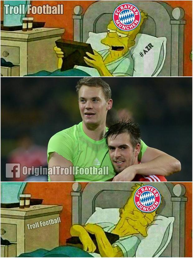 Trận thua bạc nhược của Bayern khiến các CĐV chỉ thêm nhớ về Neuer và Lahm. Trong khi thủ môn số 1 của Đức đang dính chấn thương thì Lahm hiện đã giải nghệ.
