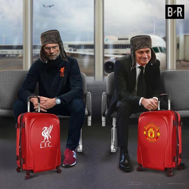 Hai tâm trạng trái ngược của Mou và Klopp khi rời nước Nga lạnh giá