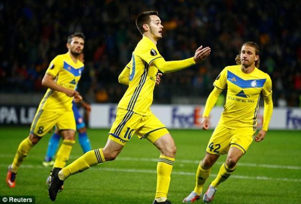 Hủy diệt BATE Borisov, chú Tư Arsenal độc chiếm ngôi đầu bảng H