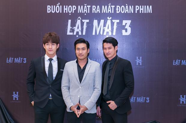 Ba chàng soái ca của Lật mặt 3: Song Luân, Kiều Minh Tuấn và Huy Khánh.