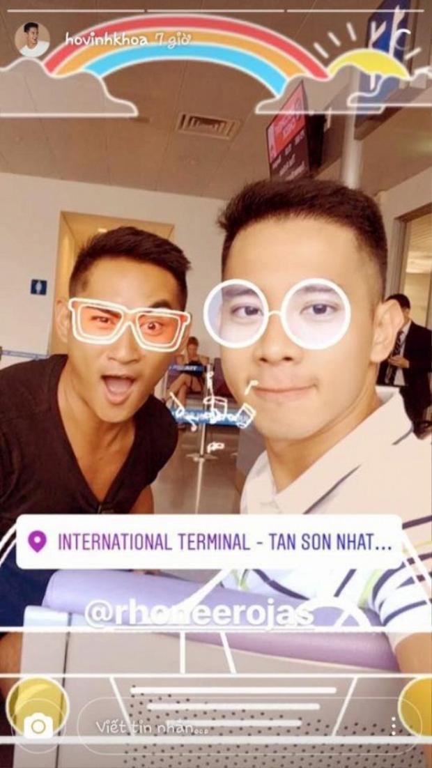 Hình ảnh hạnh phúc của Hồ Vĩnh Khoa và bạn trai Rhonee Rojas trên Instagram.