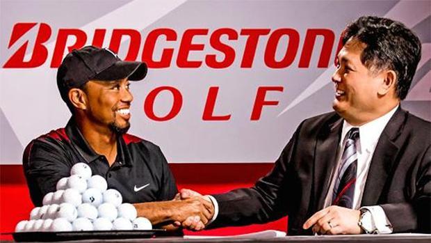 Tiger Woods không thi đấu từ lúc ký hợp đồng, nhưng doanh thu của Bridgestone Golf vẫn tăng vọt.