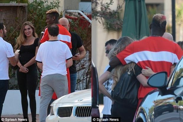 Đang chấn thương, Paul Pogba sang Mỹ rong chơi với người đẹp tóc vàng