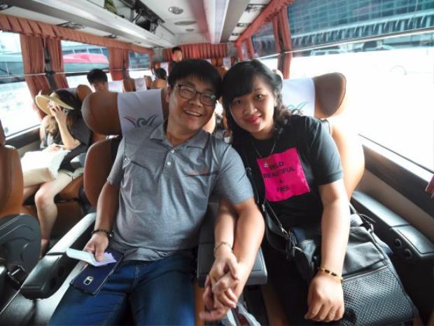 Huynh Thi Thai Muoi là một trong số ít may mắn có cuộc sống hạnh phúc với chồng Hàn Quốc. Ảnh: AFP