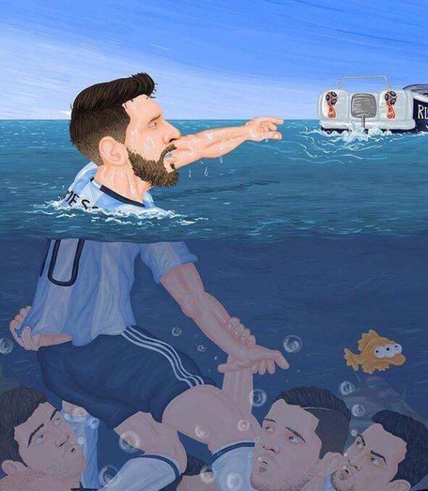 Loạt ảnh chế troll Messi và đồng đội