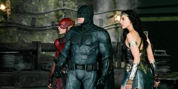 The Flash, Batman và Wonder Woman trong Justice League.