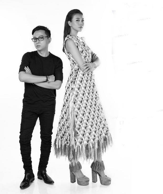 Nhà thiết kế Nguyễn Công Trí và siêu mẫu Thanh Hằng.