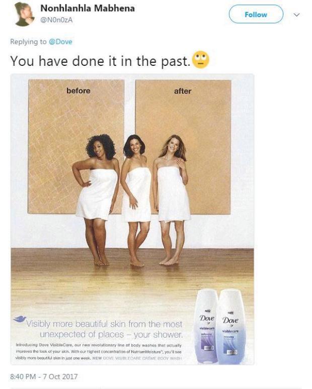 Từ cô gái da màu thành da trắng: Quảng cáo Dove bị ném đá vì phân biệt chủng tộc
