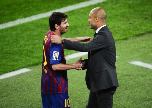 Nhân tố Pep Guardiola có thể ảnh hưởng tới quyết định của Messi.
