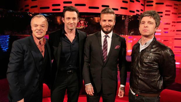 Beckham cùng các ngôi sao Hollywood.