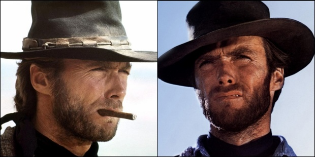 Clint Eastwood thời trẻ trong The Good, Bad, Ugly.