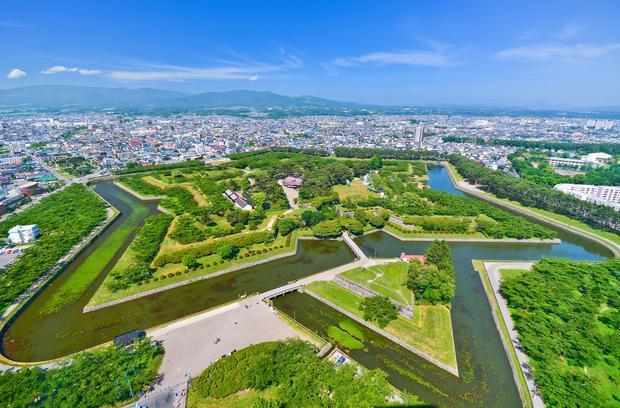 Hình ảnh Hakodate từ trên cao.