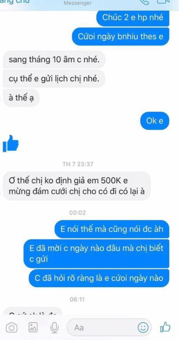 """""""Chẳng cần phải nói nhiều, tóm lại là bao giờ thì chị định trả em 500k?"""""""