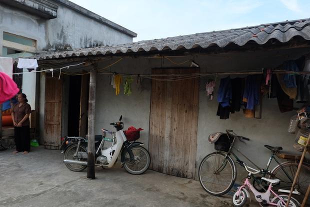 Căn nhà nhỏ của gia đình anh Đinh Ngọc Chất.