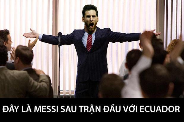 Ảnh chế: Đấng cứu thế Messi đưa Argentina tới World Cup 2018