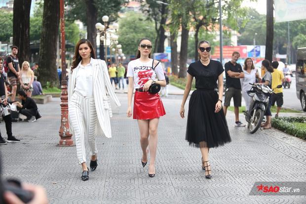 Bộ ba HLV Minh Tú - Kỳ Duyên - Phạm Hương trong ngày ghi hình đầu tiên của The Look.