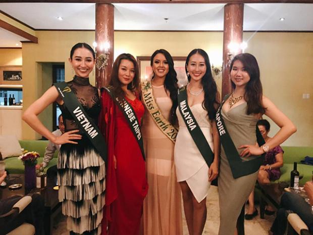 Hà Thu giữ phong độ tốt tại đấu trường nhan sắc Miss Earth 2017.