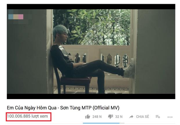 Em của ngày hôm qua đạt 100 triệu view, Sơn Tùng lại lập kỉ lục mới