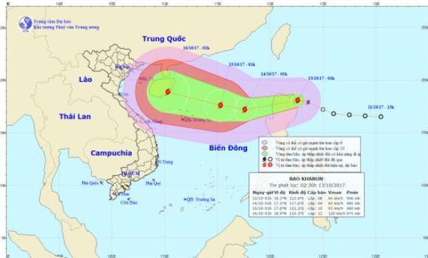 Cơn bão mới tại biển Đông có nguy cơ đổ bộ vào miền Trung nước ta.