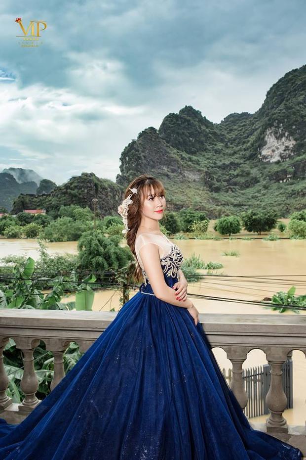 Cô dâu xinh đẹp của anh Tuấn.