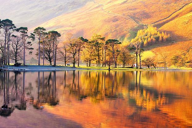 Cumbria, Anh: Cumbria có Quận Hồ - khu vực tuyệt vời để dạo bộ với rất nhiều hồ nước, được bao quanh bởi những ngọn đồi phủ kín sắc vàng ánh và đỏ thẫm. Bên cạnh đó, những rừng cây tuyệt đẹp như công viên Grizedale có đủ loại thông xanh, sồi đỏ với khung cảnh núi non, nơi bạn có thể chiêm ngưỡng sắc màu mùa thu đúng nghĩa.