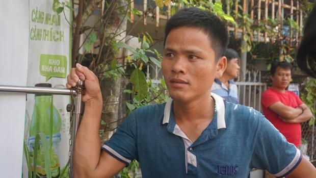 Anh Lê Văn Thanh - người chứng kiến vụ việc.