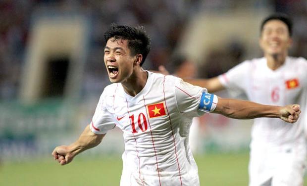 Công Phượng ăn mừng bàn thắng vào lưới U19 Úc. Ảnh: Thể thao văn hóa