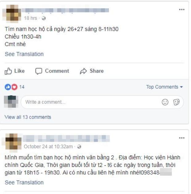 Dưới mỗi post đăng tin tìm người là hàng loạt bình luận.
