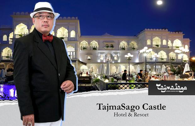 TajmaSago Castle - Hotel & Resort, 15 triệu đô. Tọa lạc bên bờ hồ Bán Nguyệt, lâu đài trắng TajmaSago được doanh nhân Hoàng Khải xây dựng lấy cảm hứng từ đền Taj Mahal ở Ấn Độ.