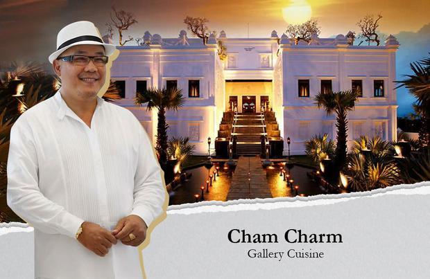 Cham Charm chi phí xây dựng 11 triệu đô:Nằm chếch phía tây khu hồ Bán Nguyệt (Q.7) và ngay chân cầu Ánh Sao, lâu đài Cham Charm nổi bật với lối kiến trúc mô phỏng ngôi đền Ankor Wat uy nghi, lộng lẫy.