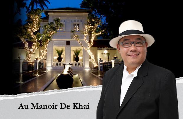 """Au Manoir de Khai- chi phí xây dựng 9 triệu USD: Nhà hàng phong cách Pháp của doanh nhân Hoàng Khải tọa lạc ngay ngã tư Lê Quý Đôn - Điện Biên Phủ.Vì thời gian mở cửa từ 17h hàng ngày, nơi đây còn được biết đến với danh hiệu """"nhà hàng đóng cửa""""."""
