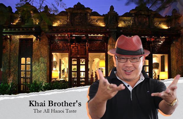 Khai's Brothers tọa lạc tại số 26 trên đường Nguyễn Thái Học (Q.Ba Đình, Hà Nội). Nơi đây gây ấn tượng bởi vẻ uy nghiêm của một đền thờ gia tộc cổ hơn là nơi thực khách đến và dùng bữa.