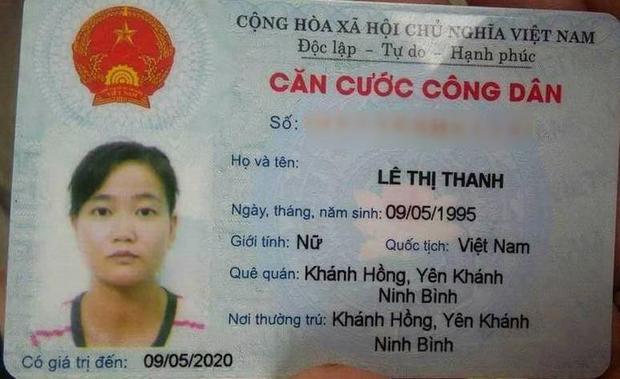 Thông tin về chị Thanh.
