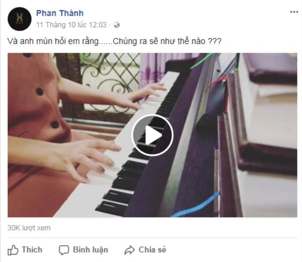 Đoạn video Phan Thành đăng lên FB…