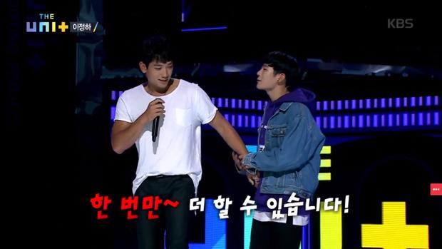 Màn năn nỉ của Jung Ha khiến các giám khảo và khán giả vô cùng thích thú.