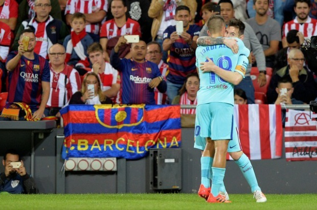 Anh là tác giả bàn mở tỷ số cho Barcelona tại San Mames của Bilbao sáng nay.