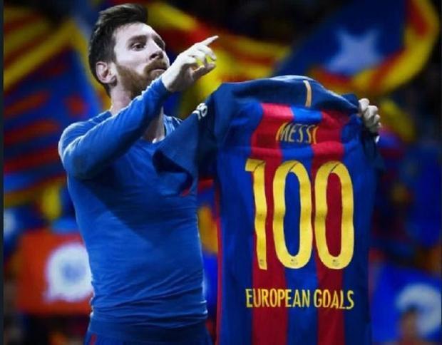 Sau chiếc áo 100 bàn ở các Cúp châu Âu, Messi chuẩn bị xong áo mới 100 bàn ở Champions League?