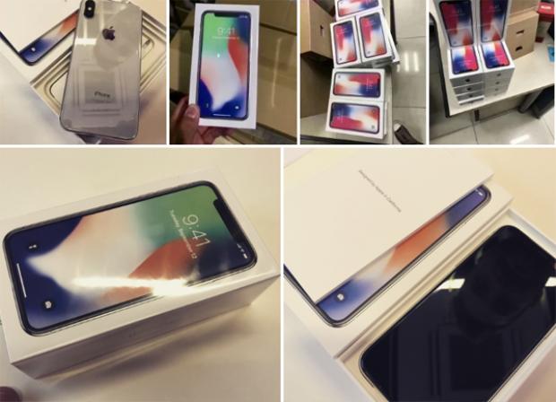 Trước đó, loạt hình ảnh cho thấy những chiếc iPhone X bản thương mại sẵn sàng đến tay người dùng cũng được đăng tải.