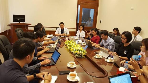 Bệnh viện Phụ sản Hà Nội cung cấp thông tin đến báo chí.