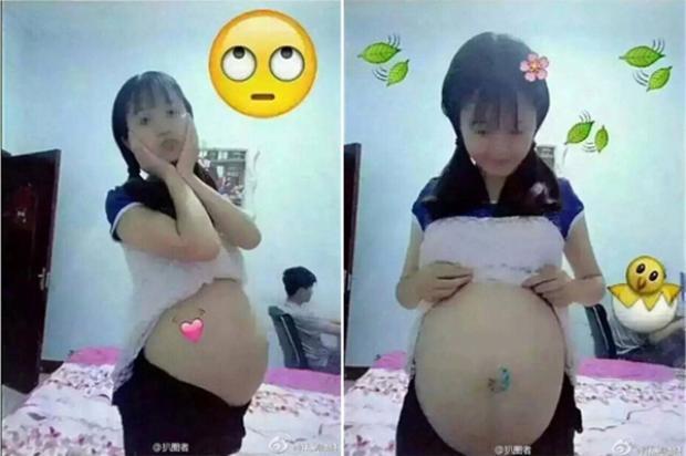 Các bé gái Trung Quốc rầm rộ livestream, đăng ảnh bụng bầu vượt mặt gây tranh cãi