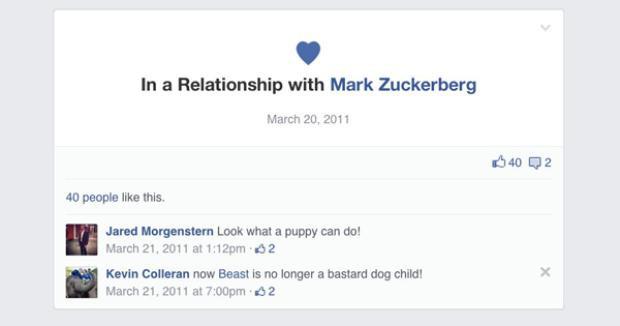 Cũng trong tháng này, họ công khai mối quan hệ trên Facebook.