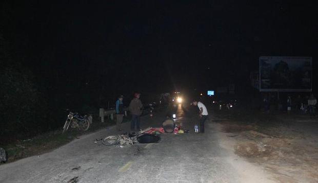 Vụ tai nạn khiến người chồng tử vong.