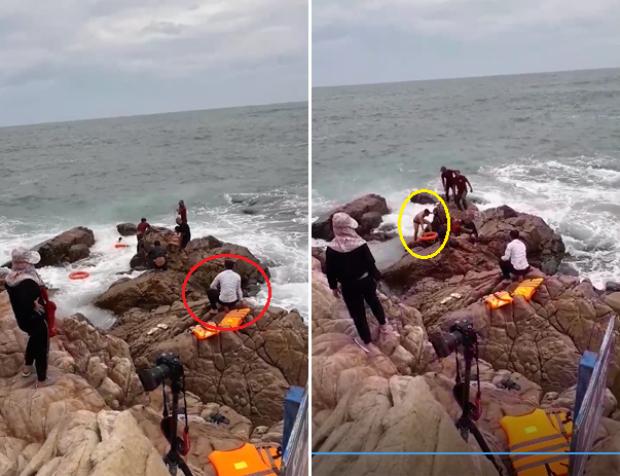 Ai là chú rể - người ngồi trên bờ hay người xuống cứu cô dâu?
