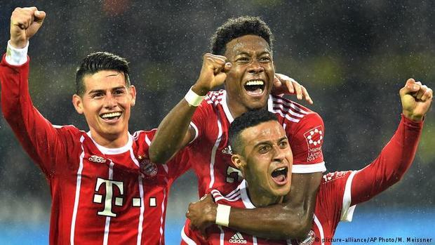 Bayern Munich tỏ ra quá mạnh so với Dortmund.