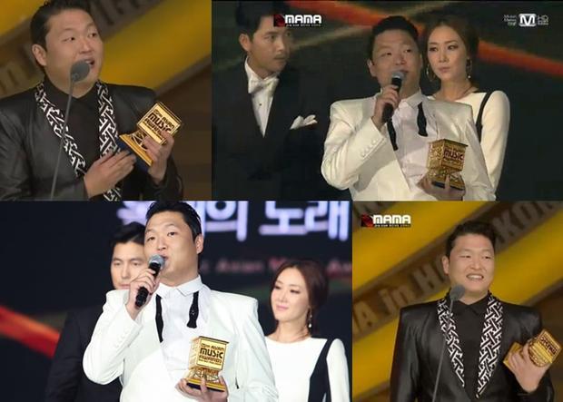 Psy nhận 4 giải thưởng tại MAMA 2012.