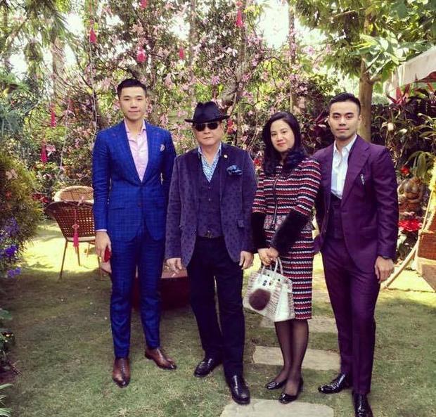 Một bức ảnh hiếm hoi của gia đình tập đoàn Tân Hoàng Minh