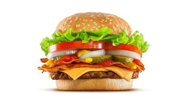 Cận cảnh chiếc bánh hamburger mà Tổng thống Trump đã dùng ở Nhật