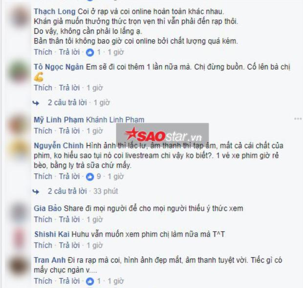 Khán giả phim Cô Ba Sài Gòn: Vé xem phim bây giờ chỉ bằng ly trà sữa, tại sao phải livestream quay lén?