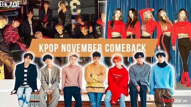 Idol Kpop rầm rộ comeback trong tháng 11: Lý do tại sao?