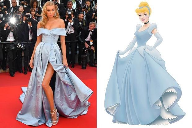 Trong bộ cánh này, nhiều người liên tưởng Elsa với cô nàng Cinderella xinh đẹp.